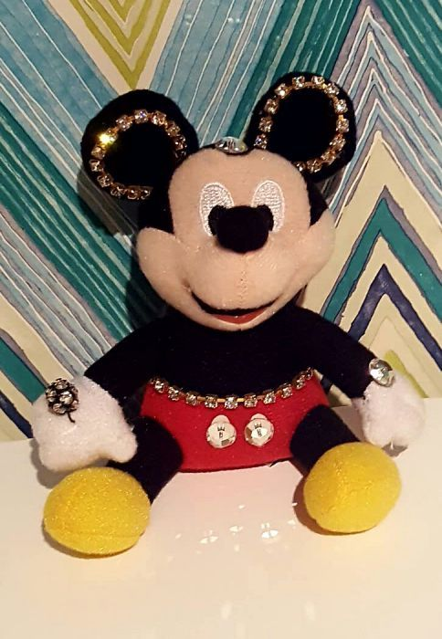 Porta chaves Mickey Mouse c/brilhantes