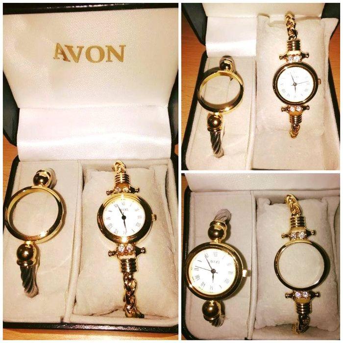 Relógio de pulso de senhora com duas braceletes (Novo)