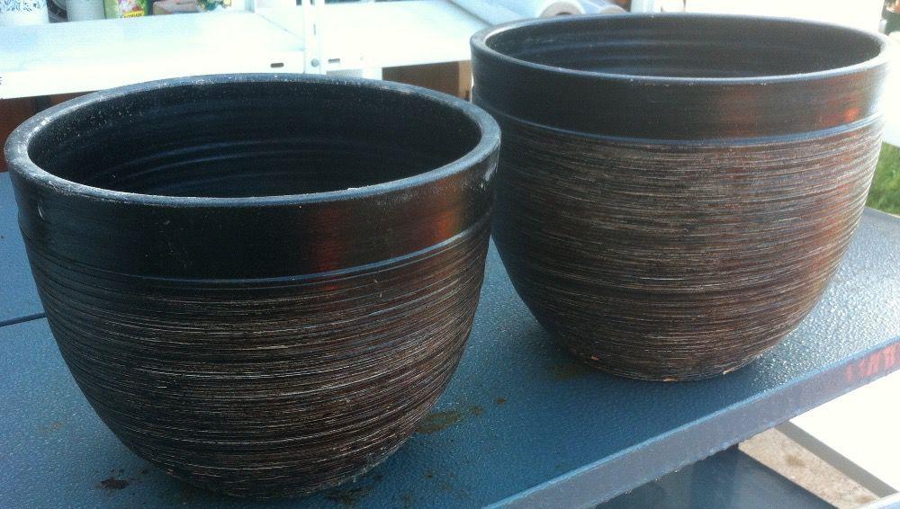 vasos decorativos negros novos