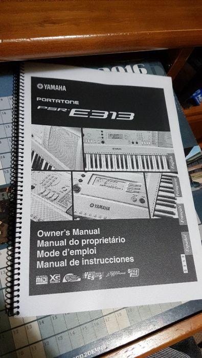 Teclado Yamaha PSR-E313 c/ Tripé e Alimentador Santarém (Marvila), Santa Iria Da Ribeira De Santarém, Santarém (São Salvador) E Santarém (São Nicolau) - imagem 7