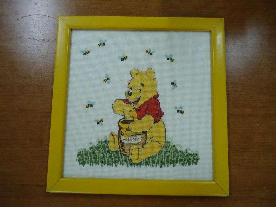 Quadro do Winnie the pooh, em ponto cruz