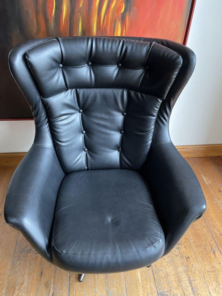 Mid century modern para foteli tzw egg chair lata 70-te po renowacji