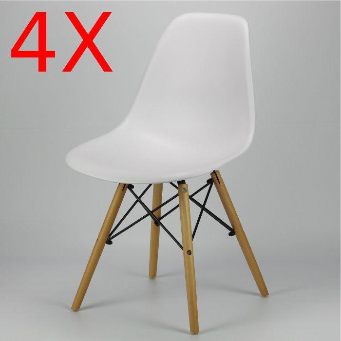 PACK 4 Unidades Cadeira Eames DSW stock limitado