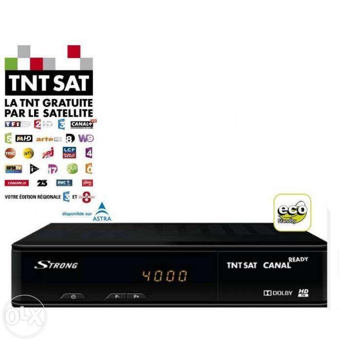 Receptor Strong TNTSAT HD canais franceses+Astra (novo)