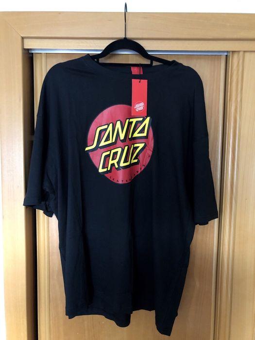T shirt SANTA CRUZ, clássica, tamanho XXL, nova