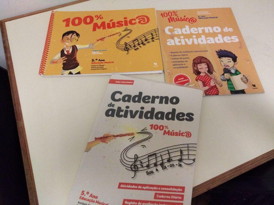 Livro: 100% Música - 5º Ano - ISBN 9789724747293