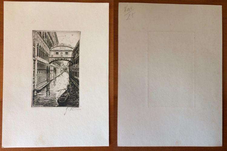 2 Gravuras de Giovanni Korompay – cerca de 1920 São Pedro de Castelões - imagem 5