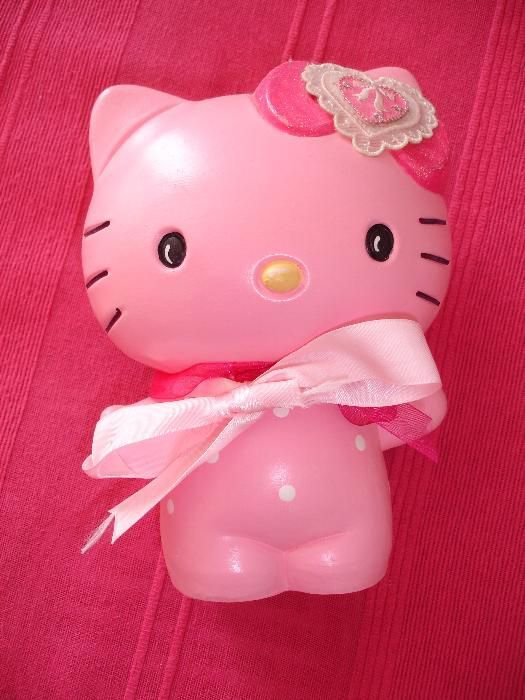 Mealheiro Hello Kitty pintado à mão [Novo]