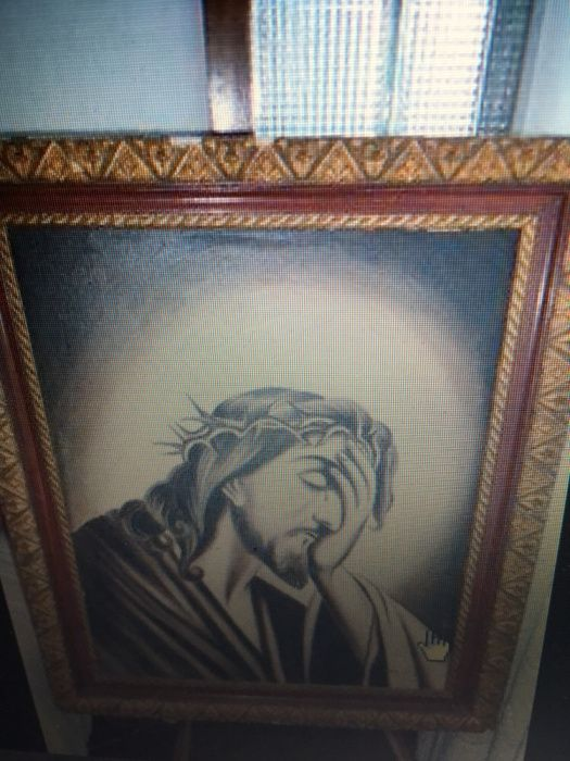 Quadro a óleo sobre tela (Jesus Cristo)