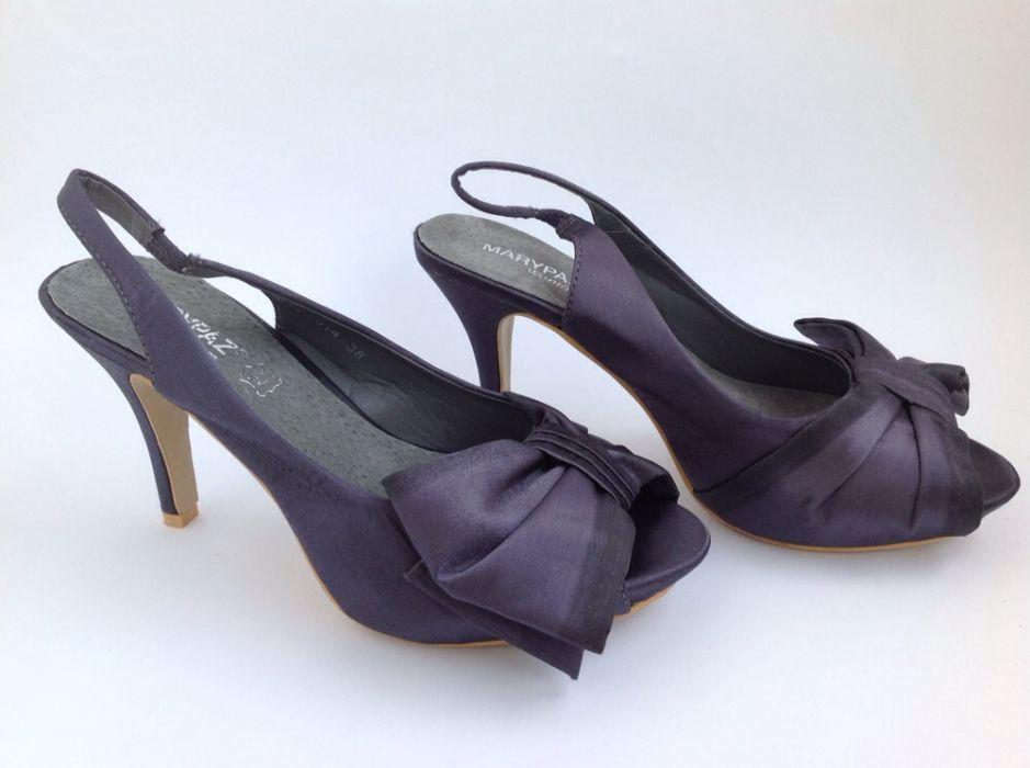0db271c48 Sapatos sandálias salto alto azuis de mulher Marypaz 38 novas