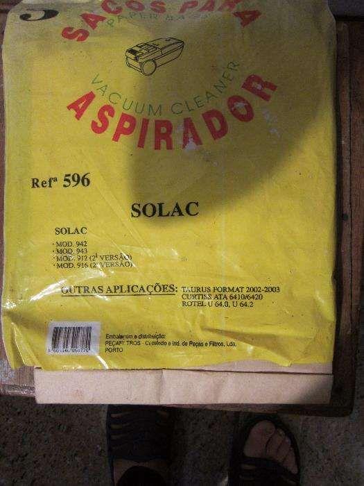 Sacos para Aspirador Solac refª 596