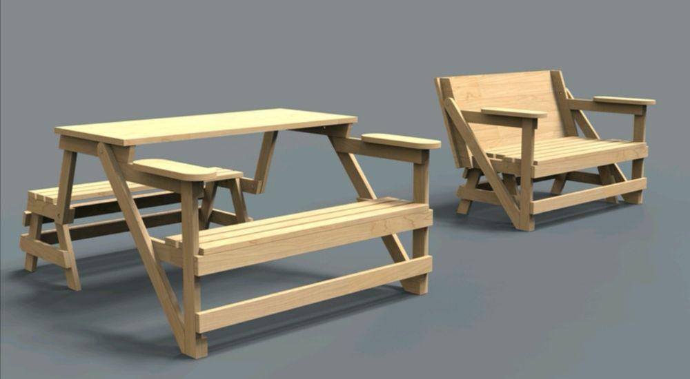 Stół Rozkladany 2w1 Z ławką ławostół Rysunek Kompletny Projekt Jaworzno Olx Pl