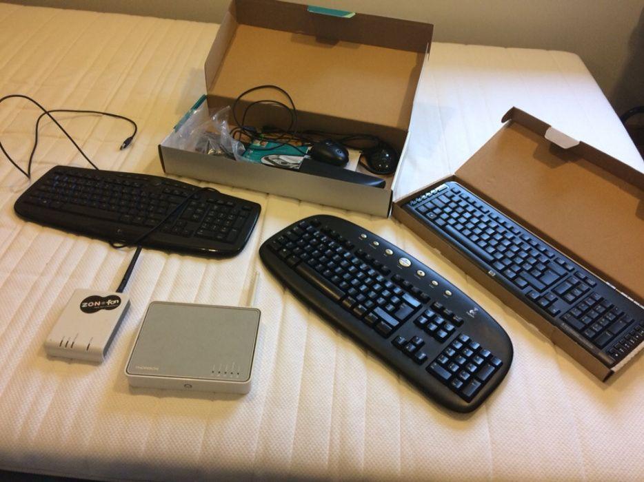 Teclados e routers
