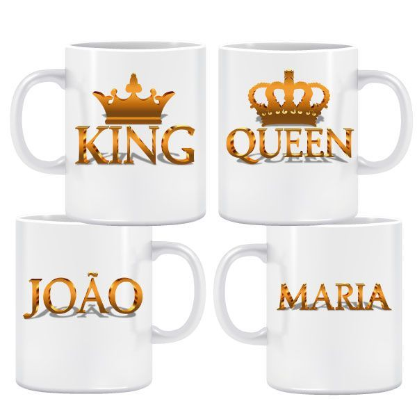 King & Queen Bronze Caneca Pack