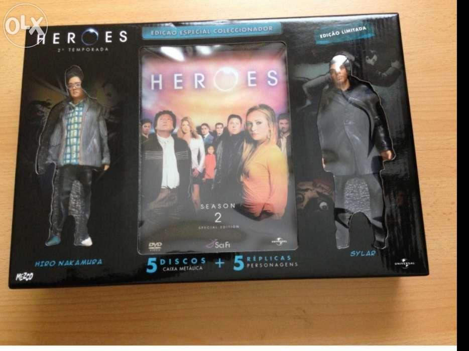 DVD Heroes - 2ª temporada completa Especial com 5 figuras
