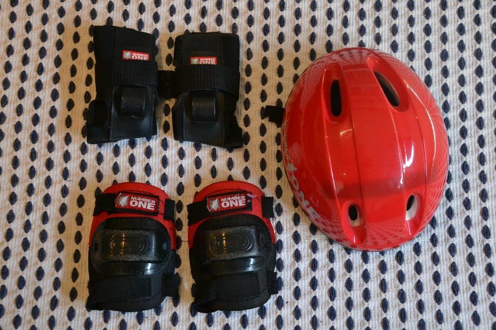 Kit de protecções para skate bicicleta ou patins marca Number One