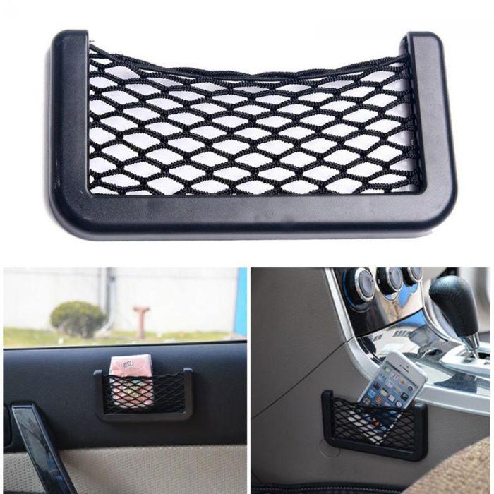 Bolsa Auto Arrumo/Organizador Rede Elástica para Carros- Muito Prático