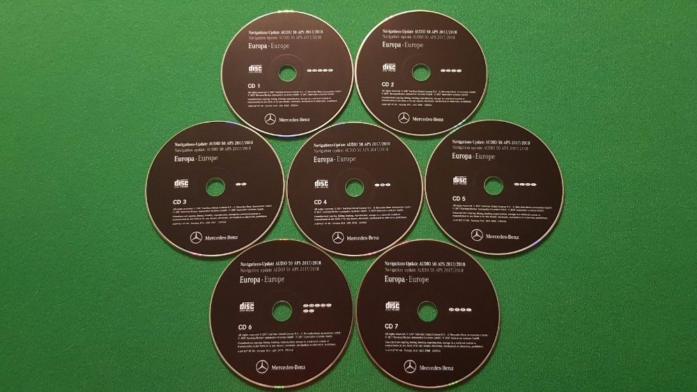 MERCEDES-BENZ - CD's Atualização GPS Navegação NTG2 AUDIO 50 - v.17