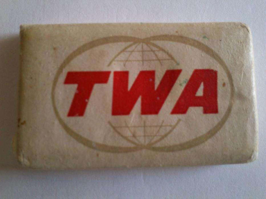 01571221bbb Aviação comercial Sabonete TWA anos sessenta (novo)