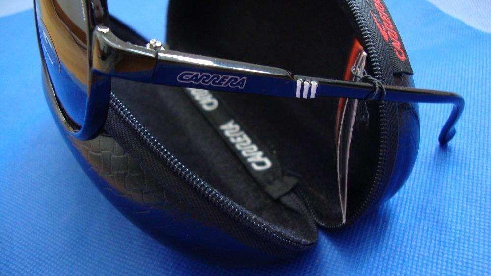 5de0cdcaa0579 Óculos Carrera Champion preto brilhante com risca Branca Amadora - imagem 3