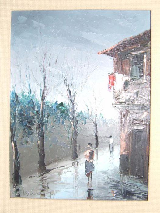 Pintura de Pedro Olaio - Original , Óleo sobre madeira