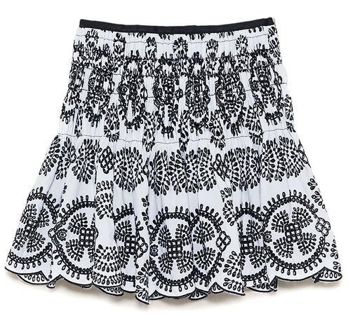 Archiwalne: Zara spódnica z ażurowym haftem S Stalowa Wola