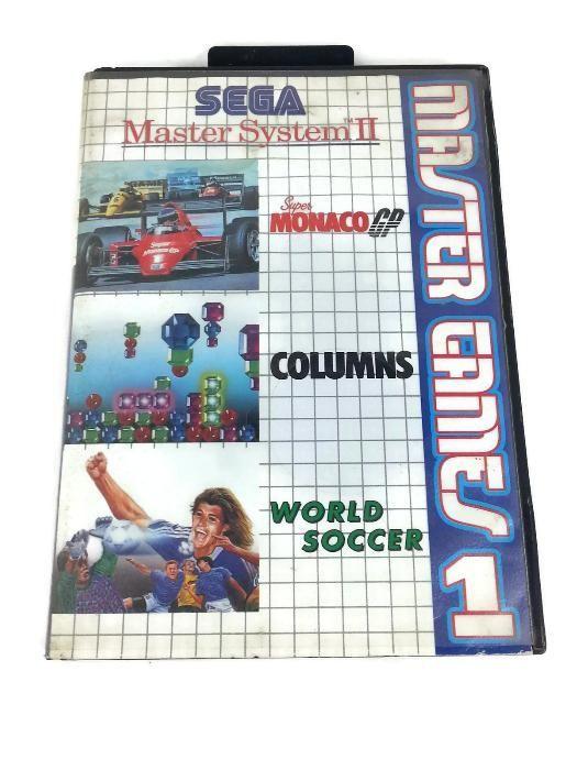 Jogo cartucho sega master system II games 1 monaco columns soccer