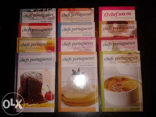 Livros de culinária - colecção chefs portugueses