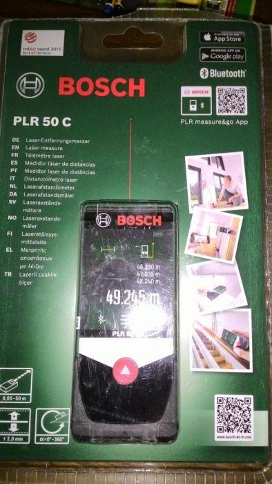 Promoção Medidor de distância laser Bosch PLR 50 C com Bluetooth