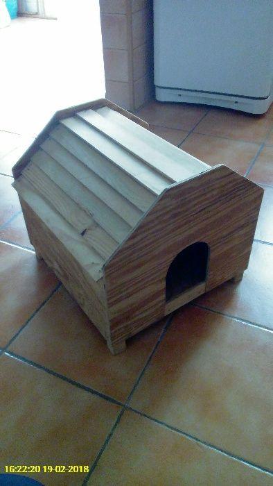 Casa em Madeira para Cão ou Gato