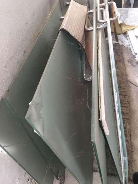 Portas de vidro temperado com ferragens