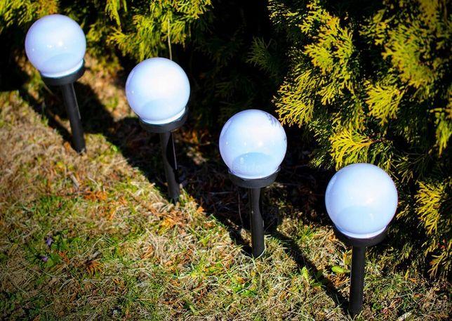 lampy solarne ogrodowe kule tanio