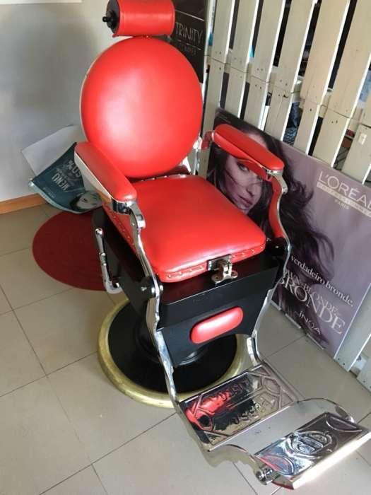 Cadeira de barbeiro vintage pessoa
