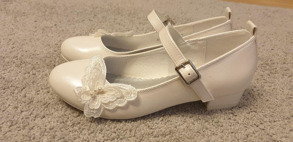 Buty Komunijne Dla Dziewczynki Biale Rozmiar 34 Olkusz Olx Pl