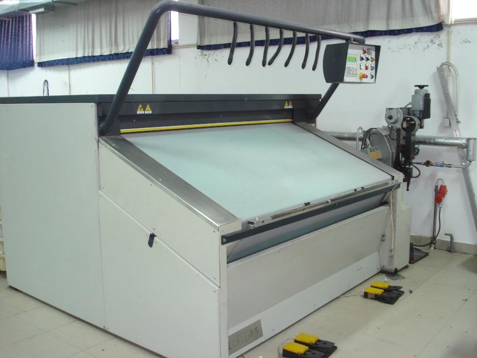 Prensa industrial para industrial textil vestuário