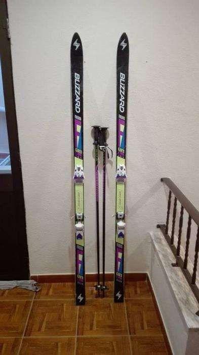 esqui /ski BLIZZARD de 1,80 mt para neve+ saco+stick