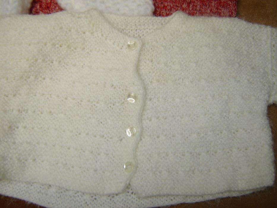 conjunto de 3 casacos de lã 0 meses novos