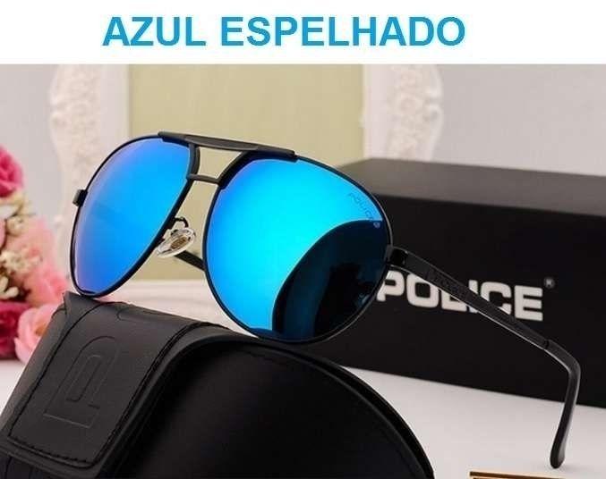 POLICE - Óculos de Sol Polarizados - Azul Espelhado - ARTIGO NOVO 101f1ee18b