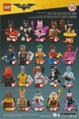 Lego - miniaturas - coleção batman movie