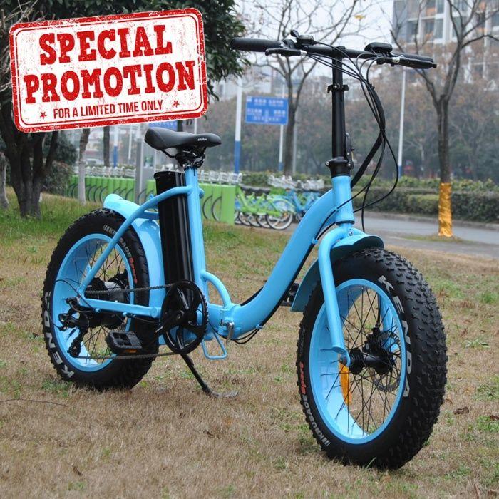 Bicicleta eléctrica dobrável roda gorda de 20 -Campanha limitada 10%