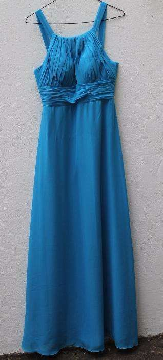 Vestido azul comprido - NOVO - T38