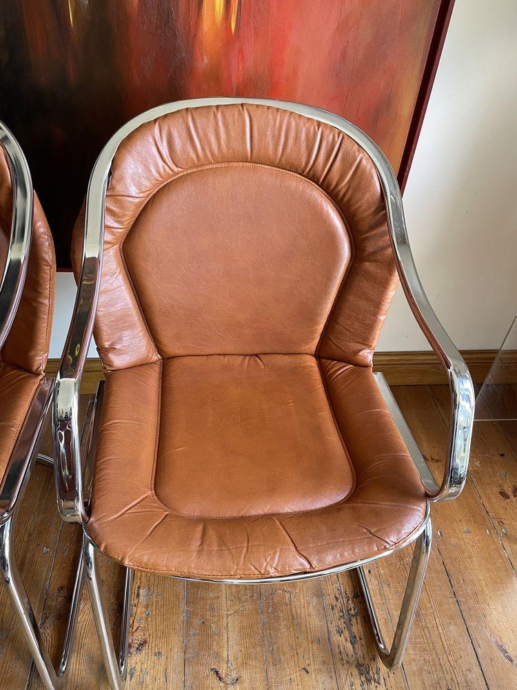 Willy Rizzo dla Cidue, krzesło z lat 70-tych Mid Century