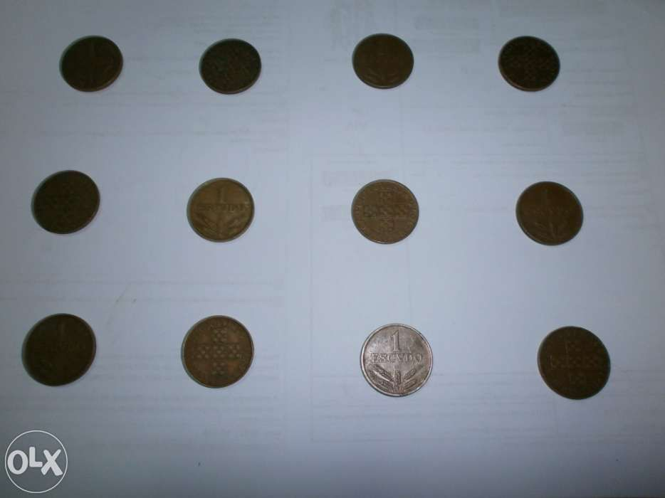 Colecção de 11 moedas de 1 escudo em bronze