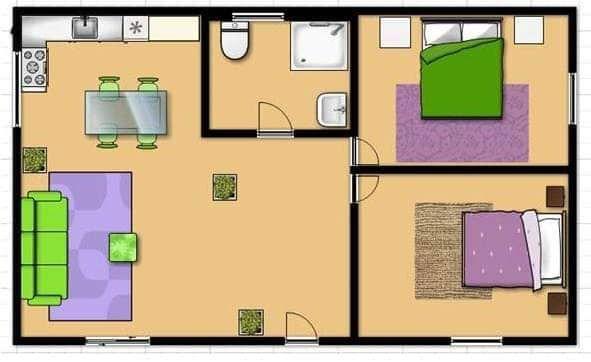 casa pré fabricada usada (2 anos)