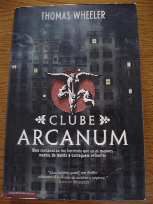"Livro ""O Clube Arcanum"" de THOMAS WHEELER"