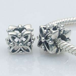 Contas em prata compatível com a Pandora
