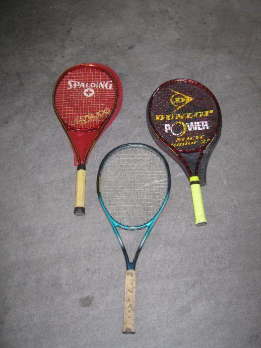 raquetes de tenis Spalding , Dunlop