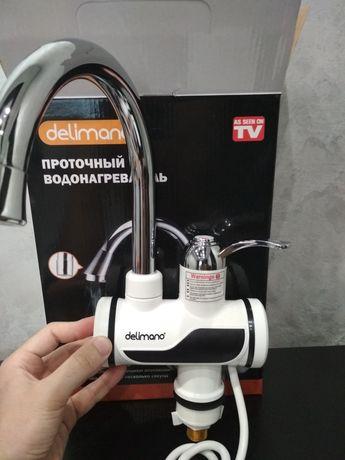 Проточный водонагреватель кран цифровой Delimano Делимано смеситель