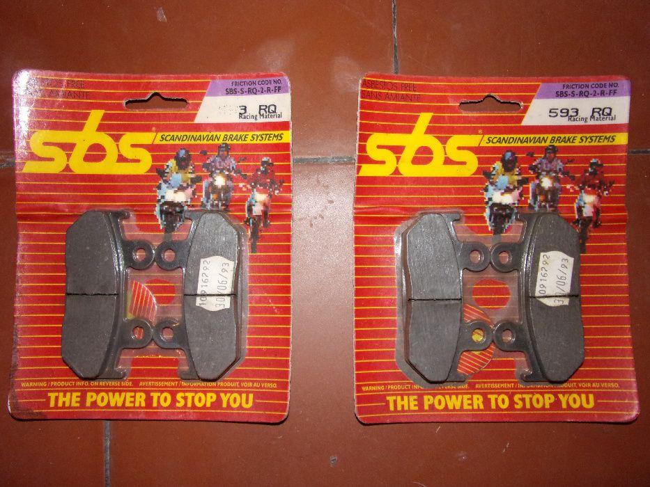Jogo de 4 pastilhas travão mota SBS 593 - Para várias Hondas ...