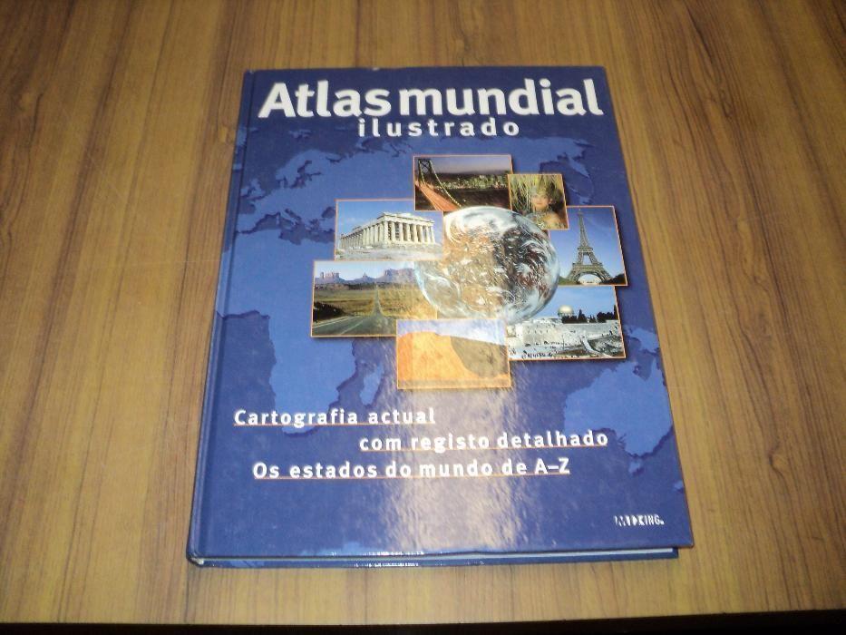 Atlas Mundial Cartografia Actual com Registos Detalhados